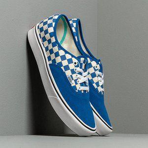 Vans Comfycush Authentic Shoes Lapis Blue Checkers